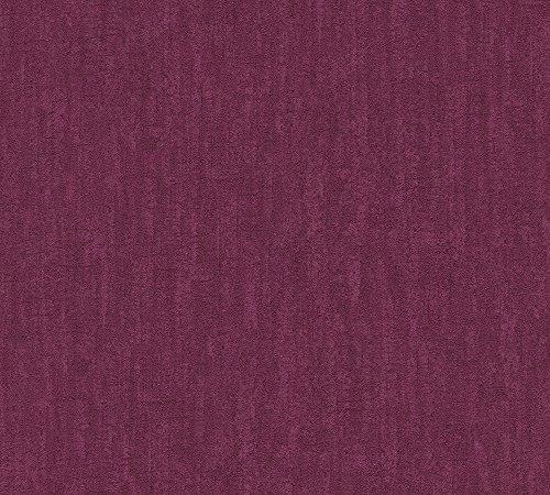 A.S. Création Vliestapete Saffiano Tapete Unitapete Vintage Optik 10,05 m x 0,53 m lila Made in Germany 339852 33985-2