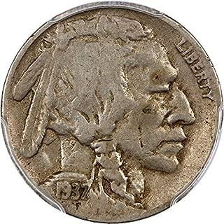 1937 D Buffalo Nickels 3 Legged Nickel F12 PCGS