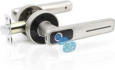 Geek Smart Fingerprint Door Lock - Biometric Door Knob Keyless Entry Door Locks for Homes/Apartments/Office/AirBnB/Hotels (Si