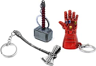 365Home 3-Pack Stormbreaker Keychain Nano Gauntlet Keychain Mjolnir Key Chain Thor Hammer Keychain Key Ring