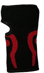 ربطة لشد المعصم لون اسود وأحمر