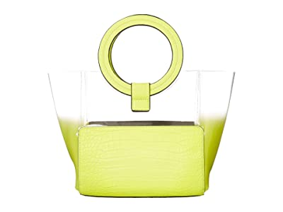 Vince Camuto Clea Small Tote (Neon Yellow) Handbags