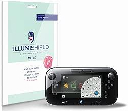 iLLumiShield Matte Screen Protector Compatible with Nintendo Wii U Gamepad (3-Pack) Anti-Glare Shield Anti-Bubble and Anti-Fingerprint PET Film