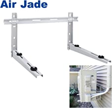 Air Jade Air Conditioner Support Bracket with cross bar,Wall Mount Heavy Duty Foldable Design,for Mini-split Ductless System Heat Pump Condensing Outdoor Unit,Support 9000 to 24000 BTU,Maximum 400 lbs