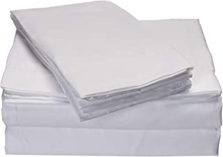 ienjoy Home 6-Piece Bed Sheet Set Collection Microfiber Bedding - Deep Pockets for Oversized Mattresses - Wrinkle Free - King, White