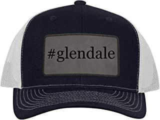 One Legging it Around #Glendale - Leather Hashtag Grey Patch Engraved Trucker Hat