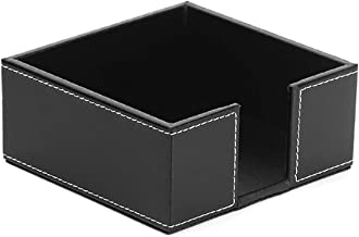 Napkin Holder,Atych PU Leather Square Cocktail Paper Napkin Holders for Dining Table Napkin Holders for Kitchen (Black)
