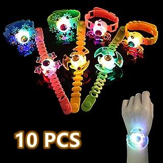 DQTYE - Pulsera con luces LED para niños que brillan en la oscuridad, para niños de 3 a 12 años, color al azar