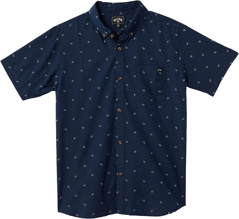 Billabong Boys' All Day Jacquard Short Sleeve Woven Shirt