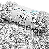 CatGuru Premium Cat Litter Mat, Medium, XL, XXL, Waterproof Litter Box Mat, Non Slip Kitty Litter Mat, Scatter Control, Machine Washable Litter Trapper, Litter Tray, Best Pet Litter Mat, Grey