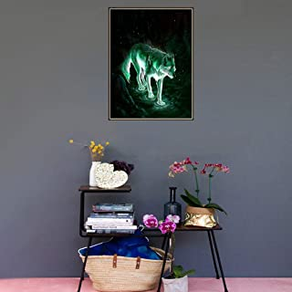 DIY 5D Diamond Painting by Number Kit, Full Drill Embroidery Cross Stitch Arts Craft Canvas Wall Decor