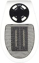 Kaemma Control Remoto Mini Calentador de Aire eléctrico de 400 W Potente soplador cálido Calentador rápido Estufa de Ventilador para Oficina en el hogar Rojo + Negro