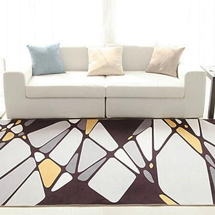 Tapis Tapis De Salon Motif Géométrique Textiles Mélangés Chambre à Coucher  Moderne Table Basse Canapé Chambre