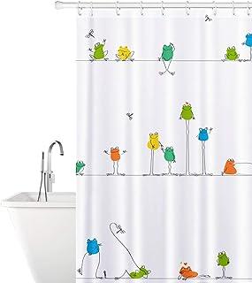 Tatkraft Funny Frogs Tyg Duschdraperi 180X180cm Vattentät mögelfri med 12 duschringar