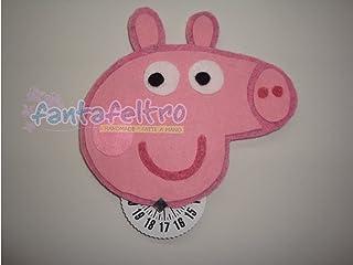 Disco orario omologato CE con Peppa Pig - idea regalo originale