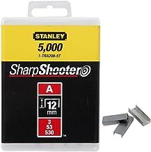 Stanley Klamrar typ A (12 mm, runda trådklämmor för el- och handhäftapparat typ A, 1000 stycken) 1-TRA208T