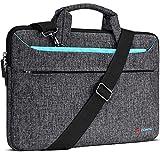 DOMISO 17 inch Laptop Sleeve Shoulder Bag Water-Resistant Messenger Bag Business Briefcase for 17.3' Notebooks/17.3' Dell Inspiron/MSI GS73VR Stealth Pro/Lenovo IdeaPad/HP Envy/LG Gram/ASUS ROG,Blue