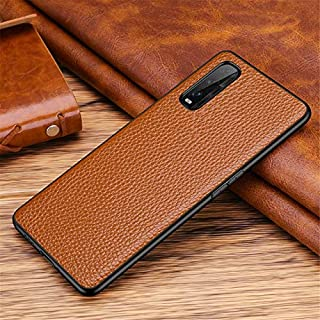 Systech-Fitted Cases - Luxury Litchi Texture Genuine Leather Cover Case For OPPO Find X2 Pro Phone Bags Fundas Coque Anti-...