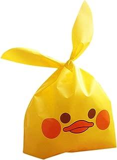 【plum forest】 アヒルさん ギフト 用 ビニール袋 50枚入り (イエロー L)