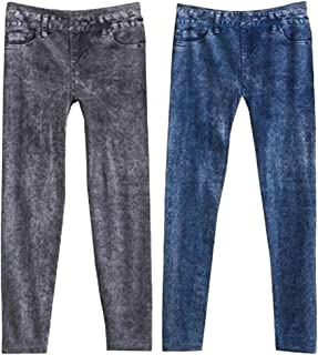 IPOTCH 2 Pieces Women Jegging Leggings Trousers Full Length Pants Solid Tights