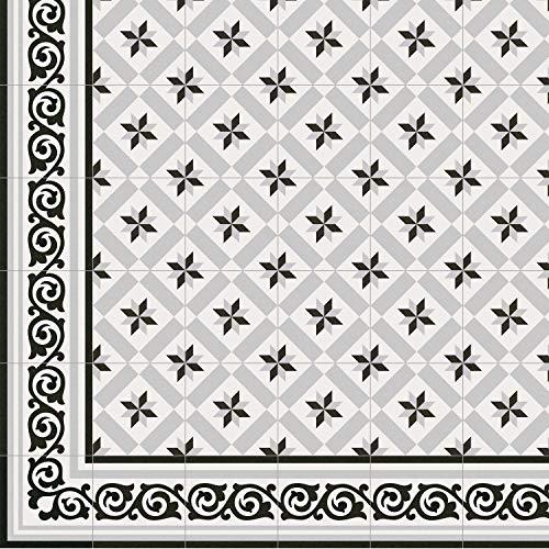Casa Moro Mediterrane Keramik-Fliesen Rahma 20x20 cm matt 1 qm aus glasiertem Steinzeug in Zementoptik | Bodenfliesen Wandfliesen im Bad & Küchenrückwand | Schöne Küche Flur & Badezimmer | FL6006