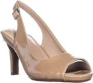 Giani Bernini GB35 Layceel Peep Toe Slingback Heels, Desert, 9.5 US