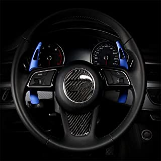 Topsmart Steering Wheel Paddle Shifter Extensions For Audi Aluminum Alloy Shift Paddle Blades Compatible for Audi A3 A4 A5 S3 Q2 Q7 S4 TT TTS 2016-2019 (Blue)