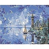 Malerei Leinwand Leuchtturm Digital Painting Diy reines handgemaltes Ölgemälde Kern