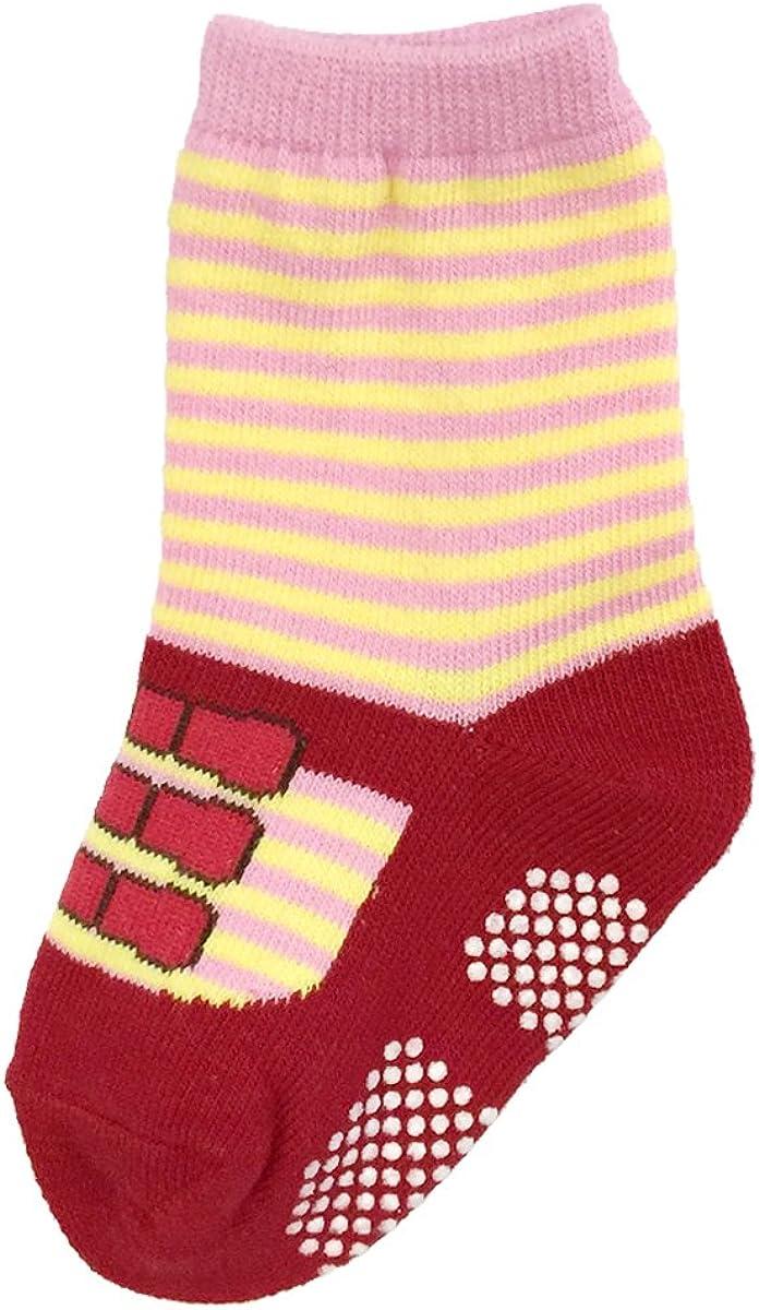 Bowbear Baby Girls 6 Pair Best Friends Mary Janes Non-Slip Socks