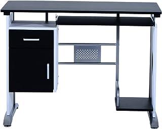 comprar comparacion Mesa de Ordenador Escritorio de Oficina Mesa de PC Mesa con Armario para Hogar Escuela y Oficina Mobiliario 100x52x75cm Ma...