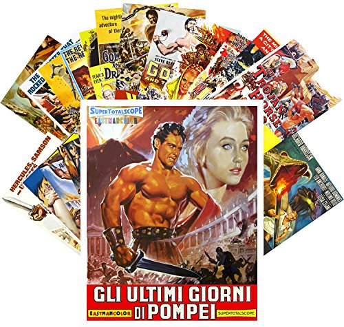 Postcard Set 24 cards Peplum Antique Sword Action Vintage Trash Movie Posters