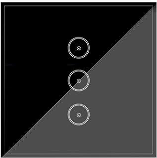 UseeLink Smart lichtschakelaar, wifi, gehard glas, touchscreen-schakelaar, 3 standen, 2-weg, compatibel met Alexa/Google H...