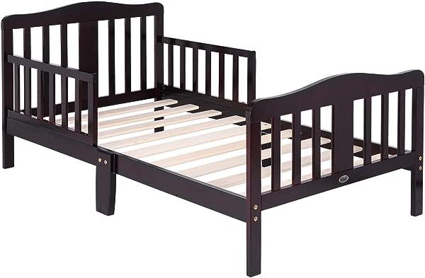 Bonnlo Wooden Toddler Bed For Boys Girls Dark Cherry
