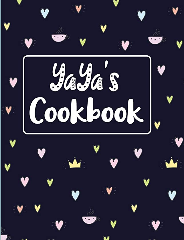 適格きゅうりサイトラインYaya's Cookbook: Navy Blank Lined Journal (Yaya's Recipe Gifts)