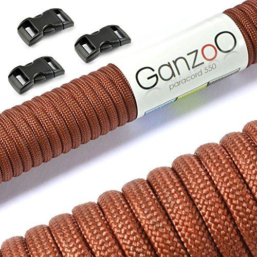 Paracorde 550 corde avec fermeture, pour bracelet ou collier de chien, 15 mètres