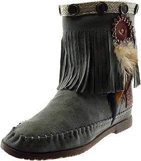 : bottines franges Chaussures : Chaussures et Sacs