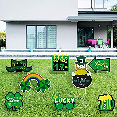 Jetec 8 Pieces St. Patrick's Day Yard Sign ...