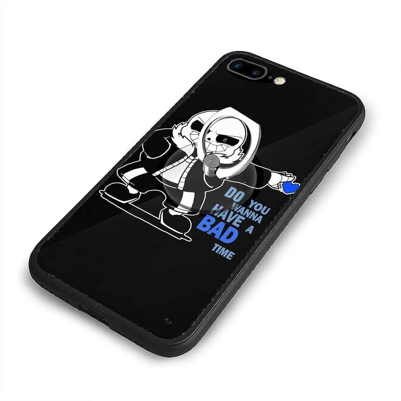 脱獄熱望するむちゃくちゃサンズ アンダーテール iPhone 7/8 Plusケースリングブラケット 携帯カバー 創意デザイン軽量 傷つけ防止 360°回転ブラケット 携帯ケース PC 衝撃防止 全面保護
