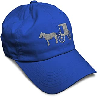 Custom Soft Baseball Cap Amish Buggy Embroidery Dad Hats for Men & Women