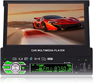 7-inch Single DIN in-Dash GPS Navigation for Car with Rear View Camera,Support Offline GPS Navigation,Flip Out Touch Scree...