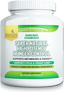 Craving Crusher Supernatural Hunger Control Supplements – Garcinia Cambogia, Raspberry Ketone and Green Coffee Bean Diet & Weight Loss Pills (60 Capsules)
