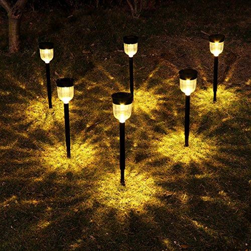 Solar Lights Outdoor,YUNLIGHTS 6 Pack Solar Pathway Lights Garden...