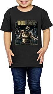 UrsulaA Kid's Volbeat Seal The Deal & Let's Boogie Cute T-Shirts for Girls/Boys T-Shirts Black