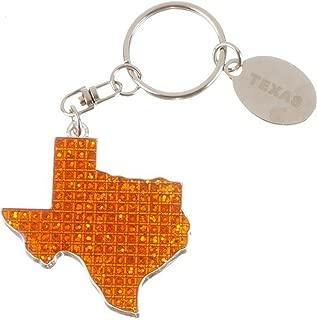 State of Texas Burnt Orange Key Chain