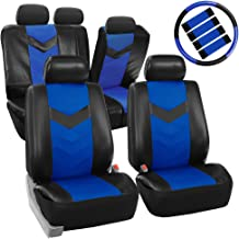 FH Group PU021BLUE-COMBO Seat Cover (Premium Synthetic Leather with Accessories Combo Set Airbag Compatible Blue)