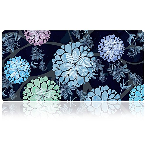 Extra Large Mouse Pad - Floral Design Gaming or Desk Mousepad - 31.5' x 15.7'x0.12''(3mm Thick)- XXL Protective Keyboard Desk Mouse Mat for Computer/Laptop-Dandelion