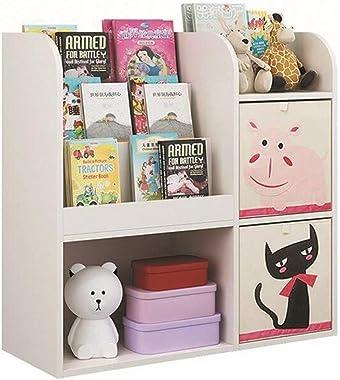 YQQ-Shelf Bookcase Display Storage Shelf Multi-Function Display Book Shelf Storage Unit Cabinet Bookshelf Office with Storage Box 88.8x34.5x87.8cm