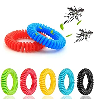 LEO SAWYER Mosquito Bracelets, 12 Pack Reusable Plant-Based Oil and Waterproof Wrist Bands for Adults, Pets, DEET Free, Tr...