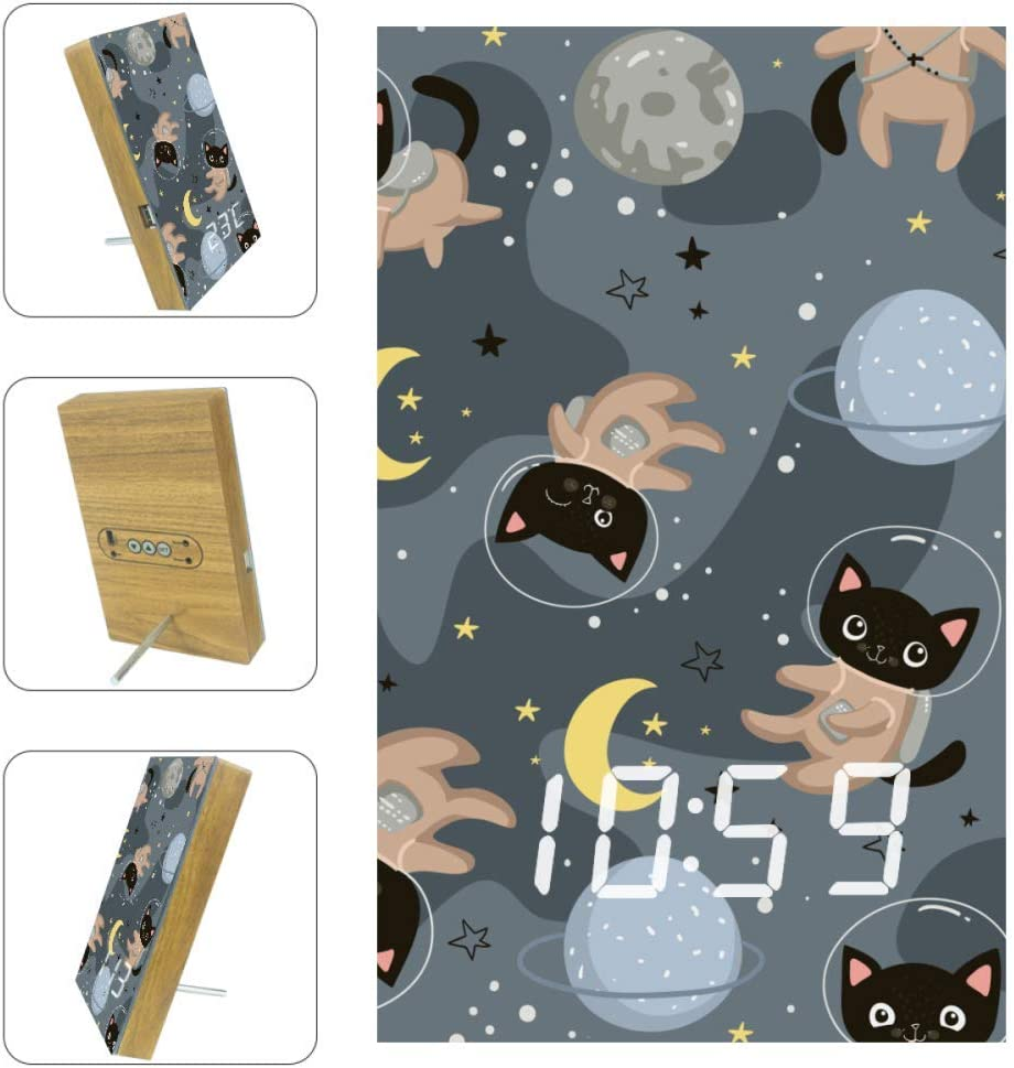 lowest price XJJUSC Cats in Sky LED Wall Ti Multi Countdown Clock Ranking TOP7 Functional