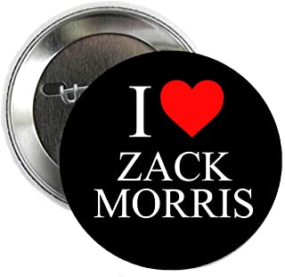I love Zack Morris Saved by the Bell Pinback Button Badge 1.25